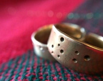 Zodiac Constellation Rings- Punched Brass