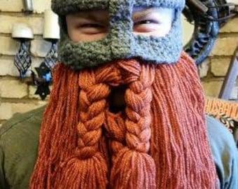 Viking helm with detachable beard