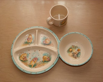 Pooh dish set