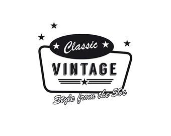 Retro logo, custom made logo, vintage business logo, retro, 1950's logo.