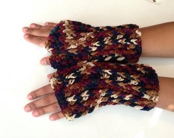 Crochet Chunky Fingerless Gloves