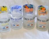 6 Grey Goose Tumbler drinking glasses