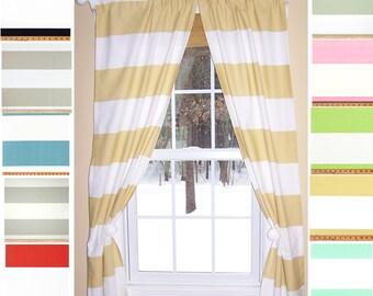 Extra Wide Horizontal Stripe Curtain Panels Blue Stripe Grey Stripe