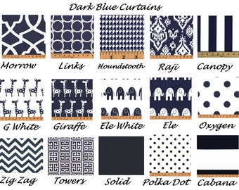 Blue Curtains,Navy Curtains, Valance, Custom Curtains,Pair Drapery Panels,24 wide,52 wide, 52 x 84,63,96,108,Blue Chevron,Blue Damask