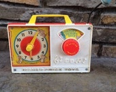 Vintage Fisher Price Hickory Dickory Dock Clock