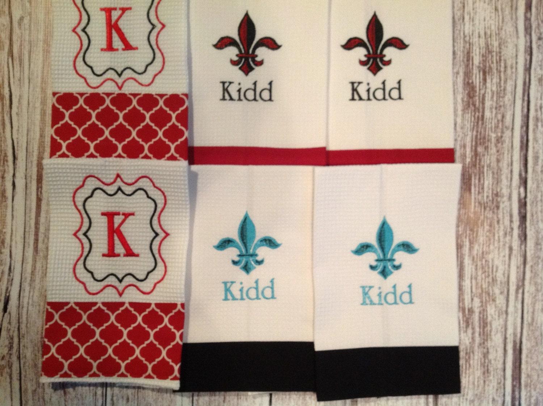 Fleur de lis towels and monogrammed kitchen hand towels 6 - Fleur de lis bath towels ...