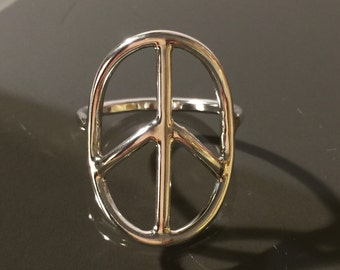Sterling silver Peace Ring,  Peace Ring