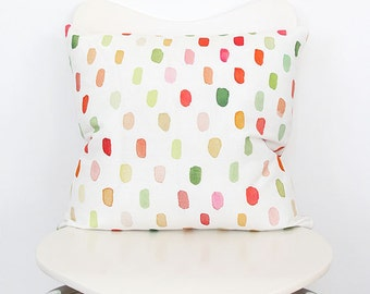 Dots in Pink and Coral- Throw Pillow