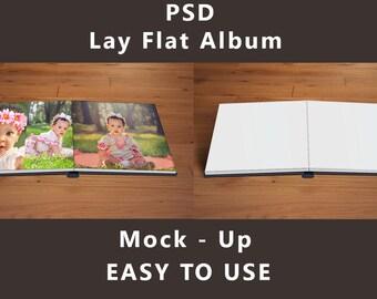 Lay Flat Photo Album - Mock up PSD