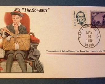 "1989  USA Commemorative Cover - ""The Stowawayl"""