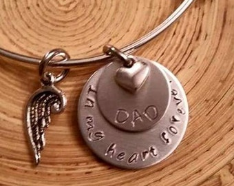 Memorial Necklace or Bangle Mom/Dad of an Angel Forever in my Heart