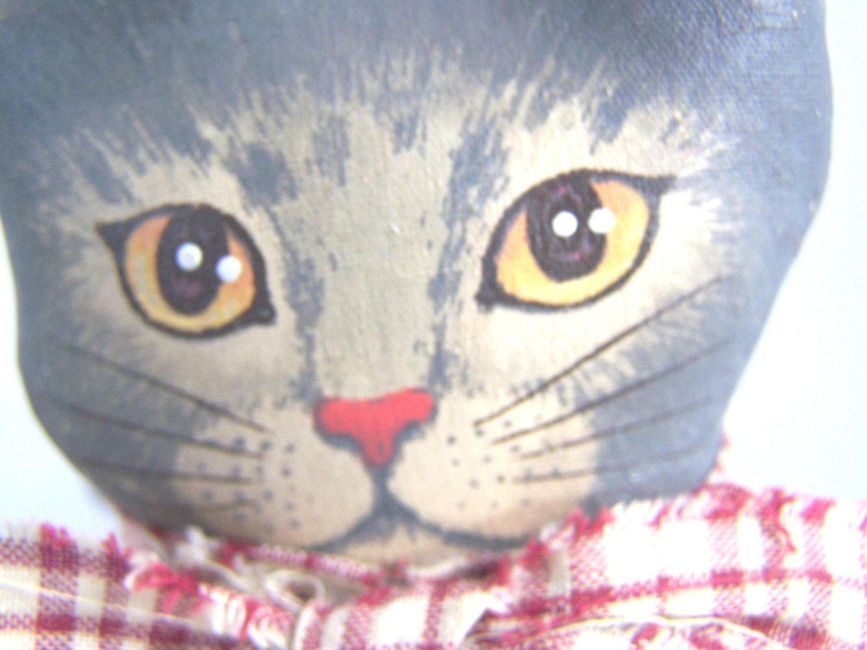 Vintage cat door stop cat for shelf hand by thingsfrommyattic - Cat door stoppers ...