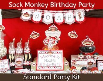 Sock Monkey Birthday Party | Sock Monkey Party Kit | PARTY PLUS Party Kit