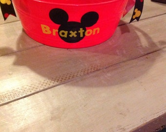 Mickey Mouse personalized round party tub