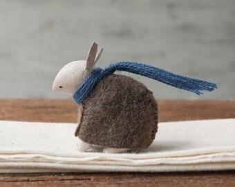 little rabbit #64 - Little woodland animal - Clay sculpture - forest animal totem - home decor  - Miniature Animals