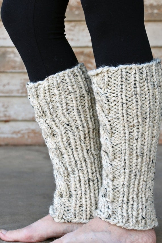 Cable Knit Leg Warmers Knitting PATTERN - INVENTIVENESS - a set of INSTRUCTIO...