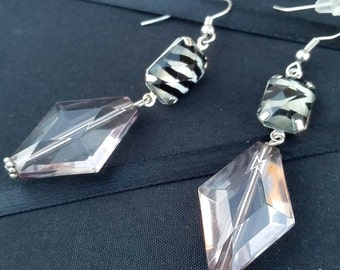 Stand Out with Classy Zebra Print Earrings