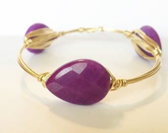Purple Candy Jade Bangle