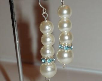Handmade earrings.Dangle earrings.Wedding earrings.Women's earrings.Women's jewelry.