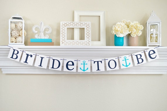 NAUTICAL Bridal Shower Bridal Shower Banner Nautical by ABannerAffair ...