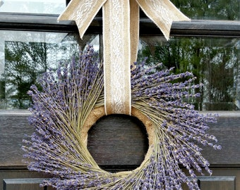 Lavender Wreath - Wreath - Preserved Lavender - Dried Lavender Wreath - Spring Wreath - Year Round Wreath - Summer Wreath - Welcome Wreath
