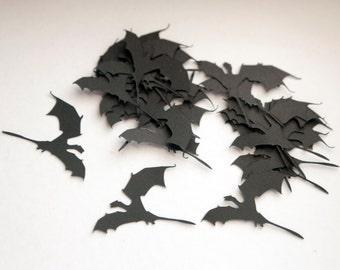"50 Dragon - Game of Thrones BLACK Confetti/Die Cuts (2"" x 1.5"")"