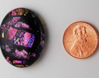 1950 dichroic cabochon - free shipping