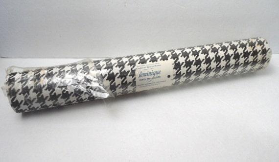 Rotolo carta da parati pied de poule bianco e nero modello for Rotolo carta parati