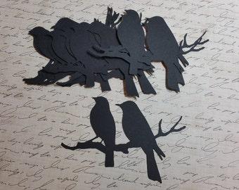 Die Cut Paper Bird Silhouettes. #B-19