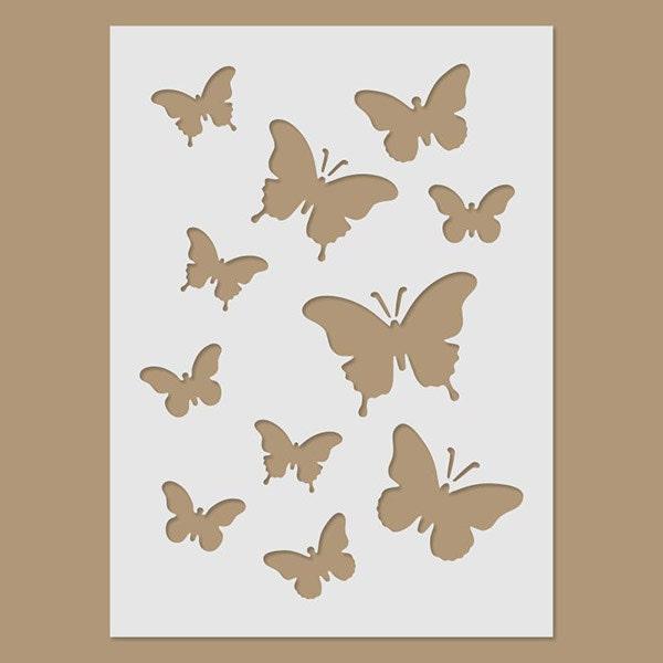 Butterflies stencil - Plantillas de mariposas ...