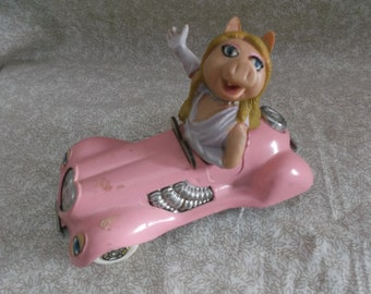 Vintage 1979 Miss Piggy Corgi Pink Car made in Britain