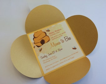 The Honey Bee Invitation - Baby showers, summer gatherings, a little one's party