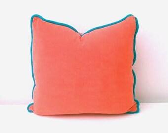 orange throw pillow etsy