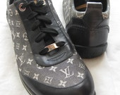 Louis Vuitton Black & Grey Monogram Sneakers