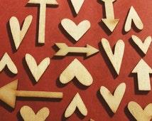 Studio Calico Hearts and Arrows Wood Veneer