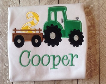 Green Birthday Tractor - Tractor Birthday - Farmer Birthday Theme - Boys Clothing - Tractor Birthday- Farm Themed Tractor Birthday shirt