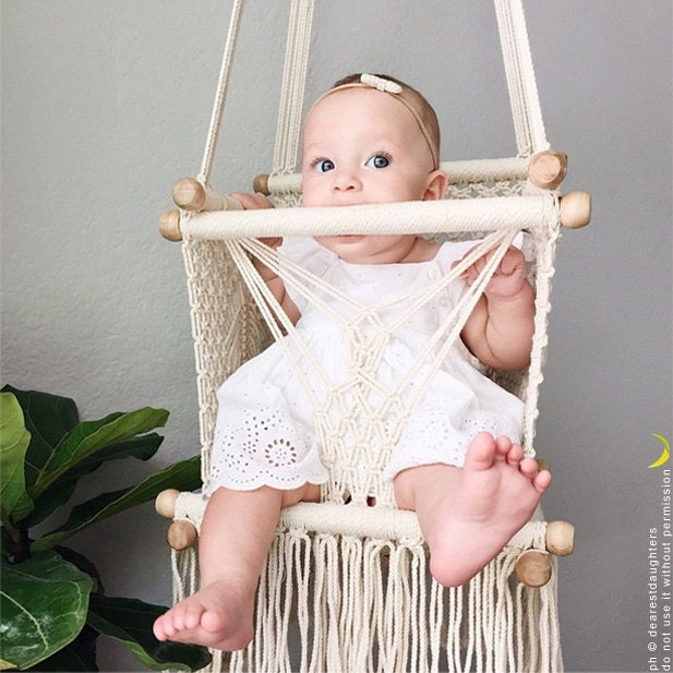 baby swing chair 14 in macrame very sturdy 1 year. Black Bedroom Furniture Sets. Home Design Ideas