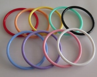 Set of 9 Plastic Bangles / Hoops for crafting with