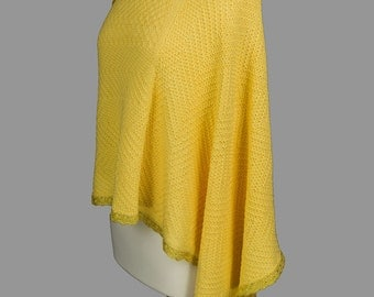 Hand Knit Forsythia Cover-up, Cotton, Hip Length, Different ways to wear it, Spring and Summer accessories One of a kind