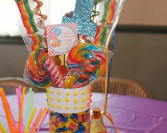 Candy Bouquet Centerpiece Candy Land, Sweet Shoppe, Birthday Party Centerpiece