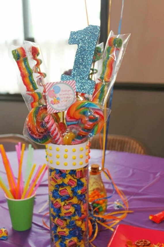 Candy bouquet centerpiece land sweet by