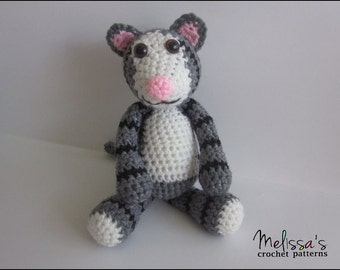 Crochet Pattern - Mister the Tabby Cat