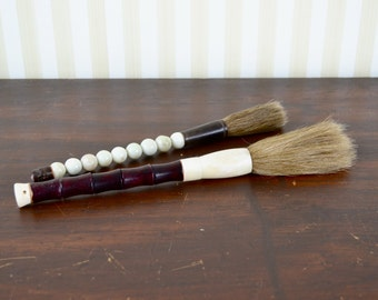 Set of 2 Vintage Calligraphy Brushes