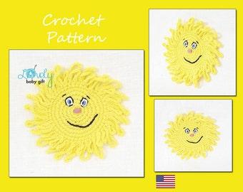 Sun Applique Crochet Pattern, CP-501