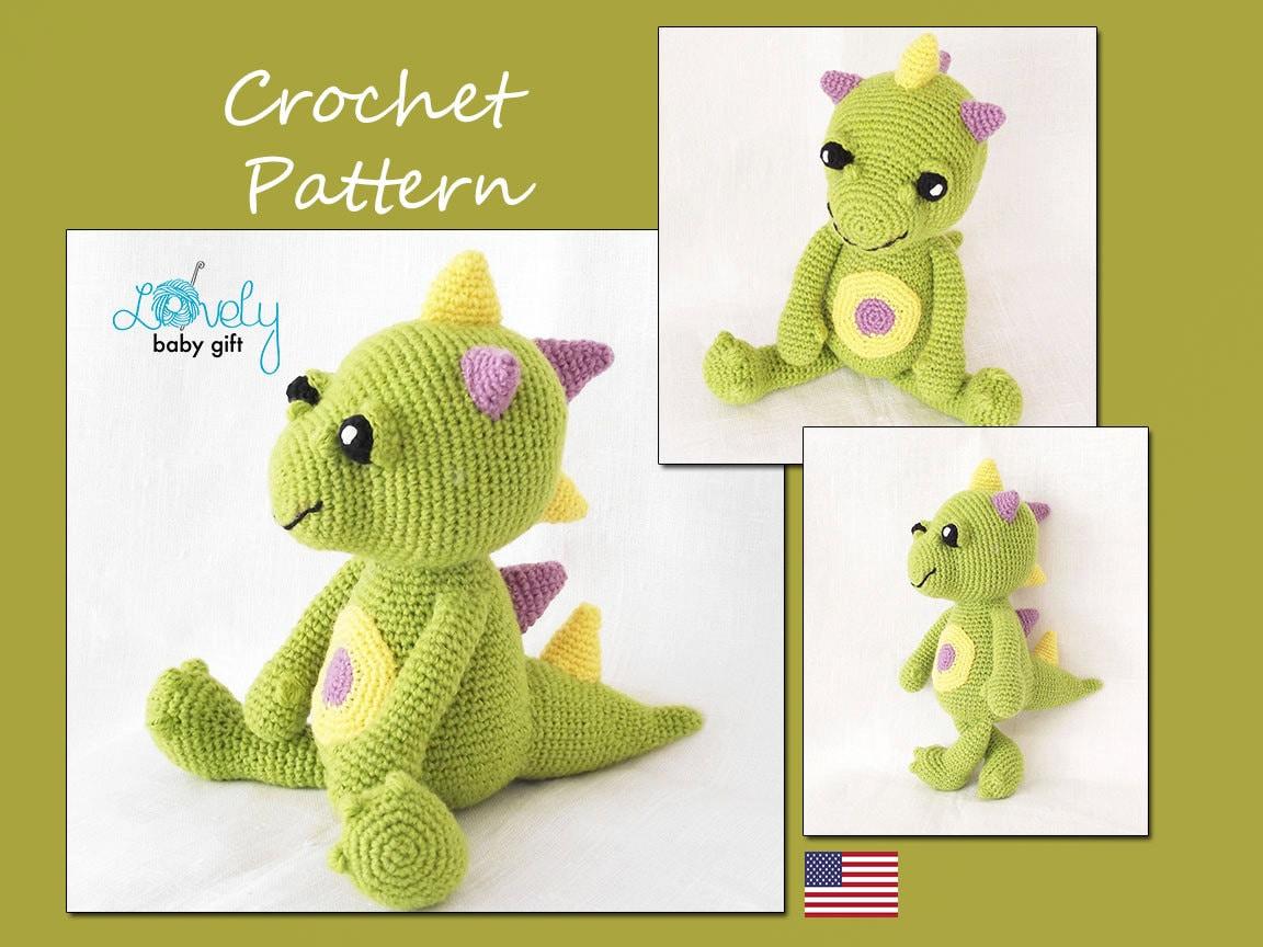 Amigurumi Dragon Crochet Pattern Amigurumi by LovelyBabyGift