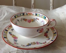 Ryrie Bros Toronto Minton Rose Teacup and Saucer
