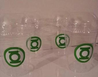 Green Lantern 16 oz Party Favor Cups