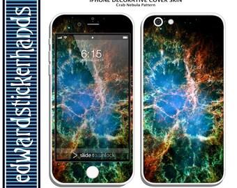 iPhone Decorative Cover Skins- Crab Nebula Pattern!