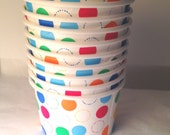 Ice Cream Paper Cups Party Make your own sundae Buffet supplies dessert snack Cups Birthday Party 10 ct