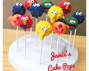 Sesame Street Inspired Cake Pops